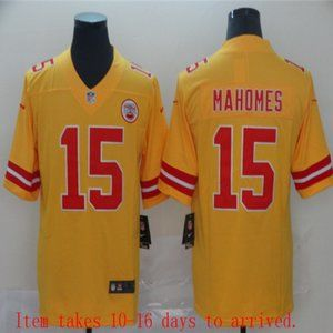 Chiefs #15 Patrick Mahomes Jersey Inverted